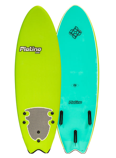 Platino 5ft 6inch Fish Softboard Lime Turquoise