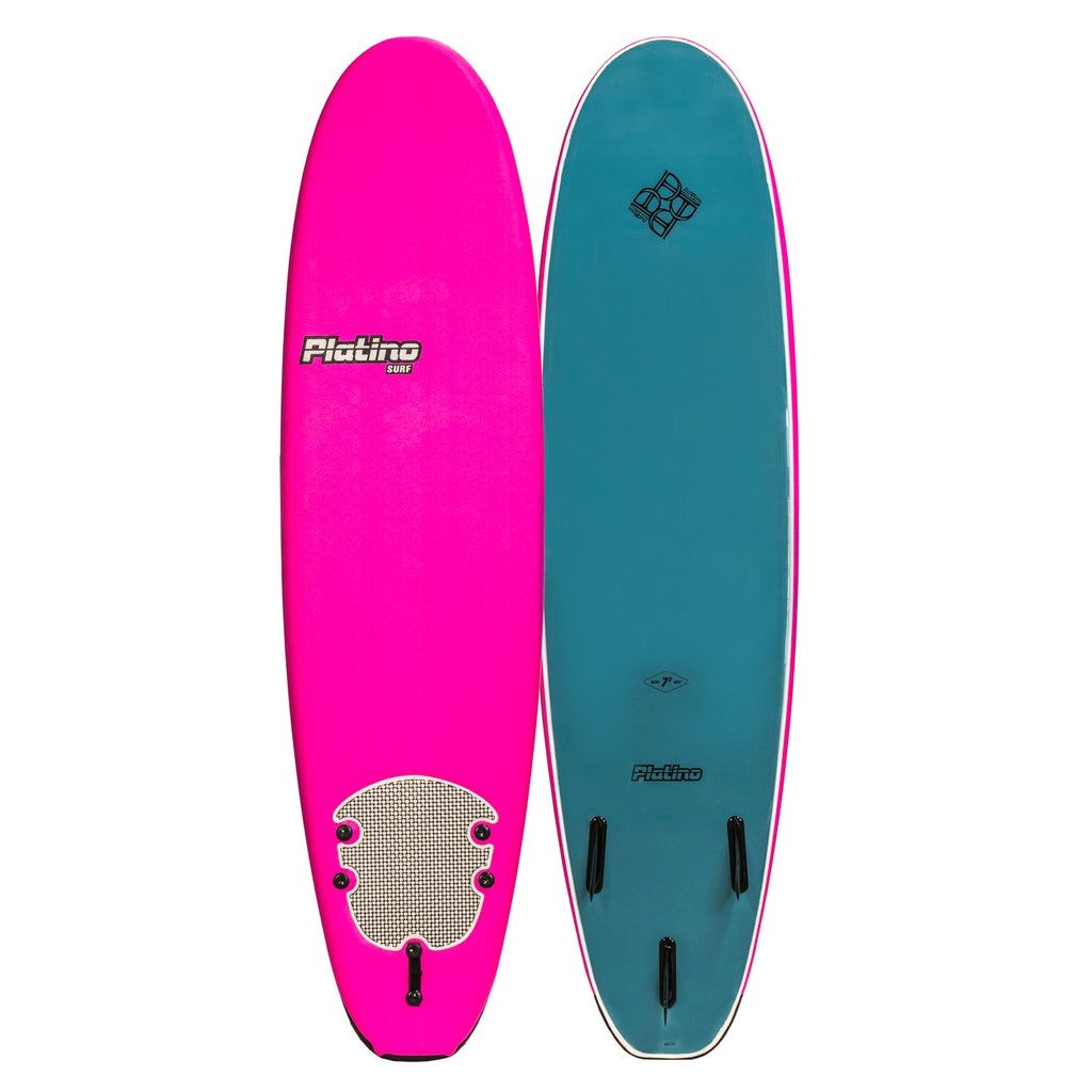 Platino 7ft Soft Top Softboard Pink Steel