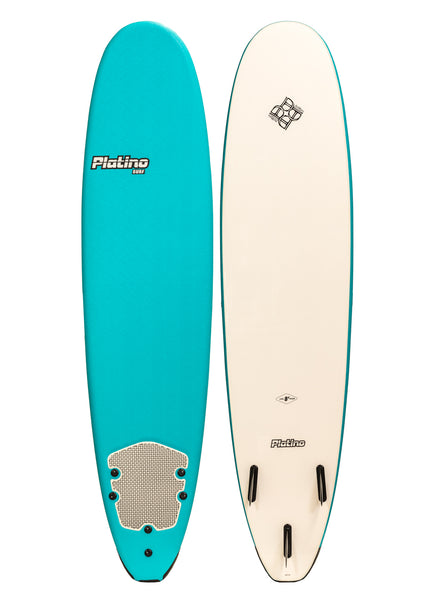 Platino 8ft Soft Top Softboard Blu Caracao White
