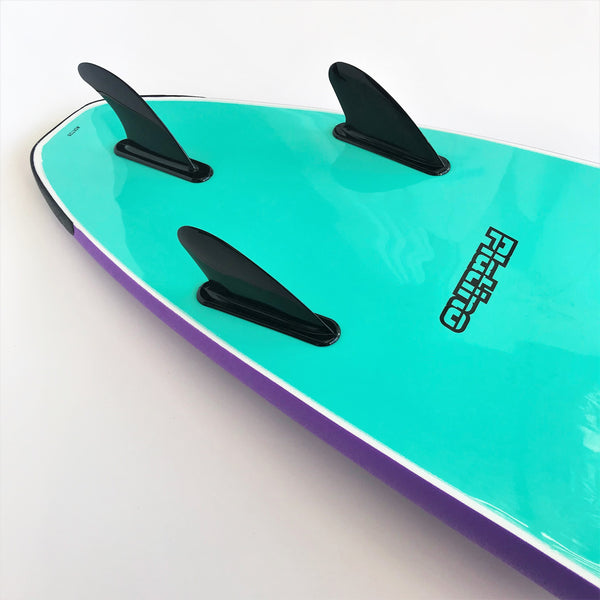Platino 7ft Soft Top Softboard Purple Turquoise
