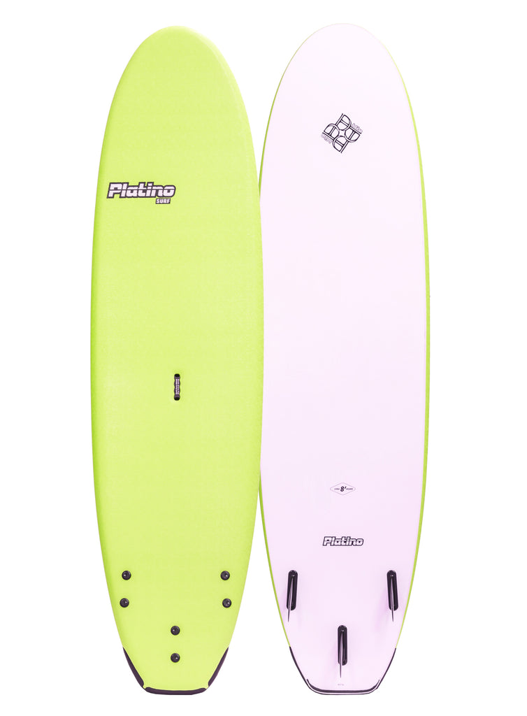 Platino  8ft SSR Big Volume Softboard Apple Green White (New stock Arriving October 31 Buy Now and Secure)