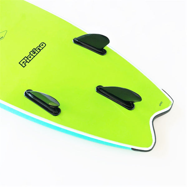 Platino 5ft 6inch Fish Softboard Azure Blue/Apple Green