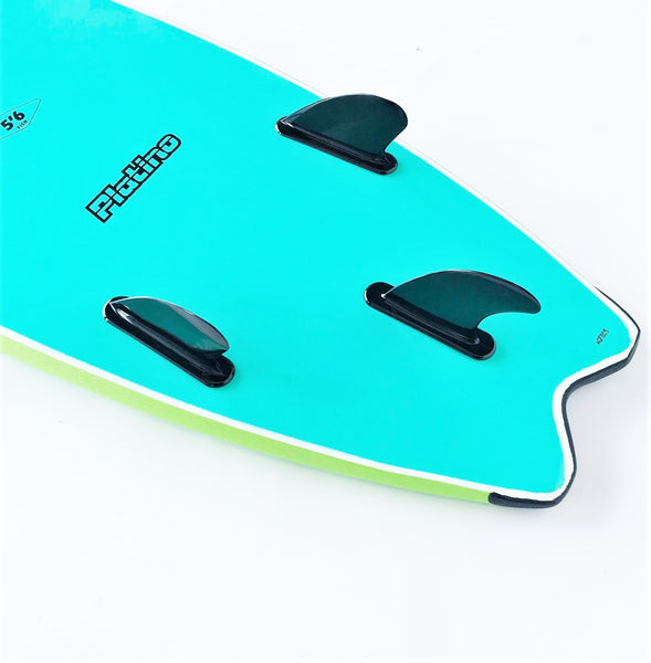 Platino 5ft 6inch Fish Softboard Apple Green Turquoise