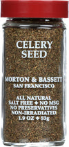 Morton And Bassett Seasoning - Celery Seed - 1.9 Oz - Case Of 3