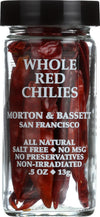 Morton And Bassett Seasoning - Chilies - Whole - Red - .6 Oz- Case Of 3