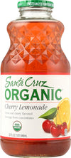 Santa Cruz Organic Lemonade Juice - Cherry - Case Of 12 - 32 Fl Oz.
