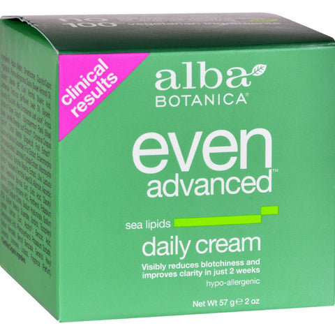 Alba Botanica Natural Even Advanced Daily Cream - 2 Oz