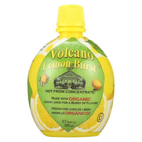 Volcano Bursts Lemon Burst - Organic Lemon - Case Of 12 - 200 Ml