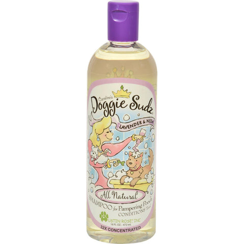 Austin Rose Caroline's Doggie Sudz Shampoo For Pampering Pooch - Lavender And Neem - 16 Oz