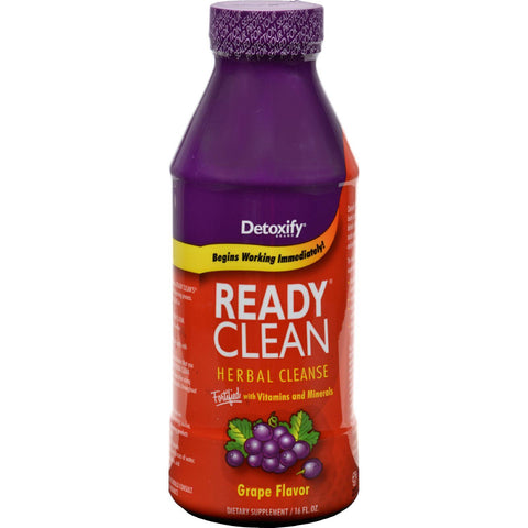 Detoxify Ready Clean Herbal Natural Grape - 16 Fl Oz