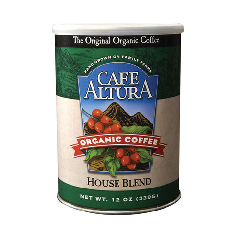 Cafe Altura Organic Ground Coffee - House Blend - Case Of 6 - 12 Oz.