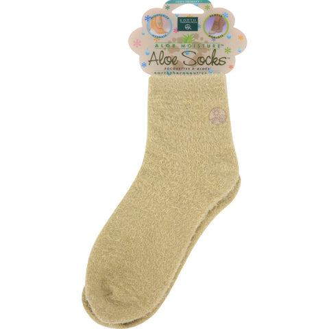 Earth Therapeutics Aloe Socks Tan - 1 Pair