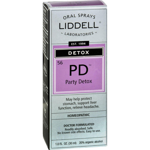 Liddell Homeopathic Detox Pd Party Detox - 1 Fl Oz