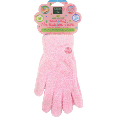Earth Therapeutics Aloe Moisture Gloves Pink - 1 Pair