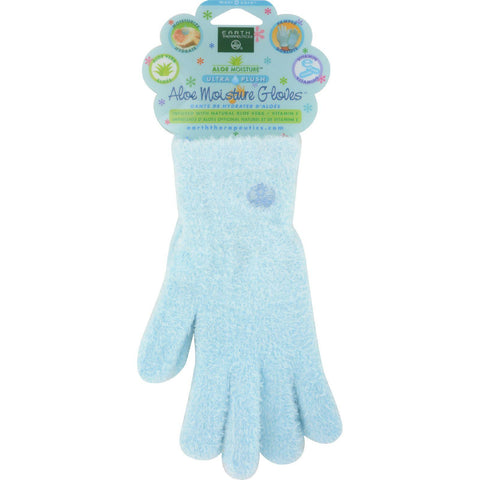 Earth Therapeutics Aloe Moisture Gloves Blue - 1 Pair