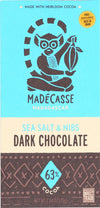 Madecasse Chocolate Bars - 63 Percent Dark Chocolate - Sea Salt And Nibs - 2.64 Oz Bars - Case Of 10