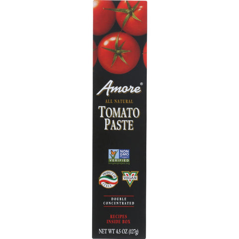 Amore Tomato Paste - Tube - 4.5 Oz - Case Of 12