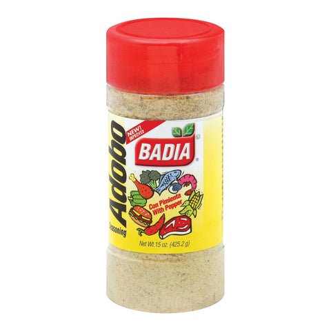 Badia Spices Adobo Seasoning With Pepper - Case Of 12 - 15 Oz.