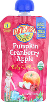 Earth's Best Organic Pumpkin Cranberry Apple Baby Food Puree - Stage 3 - Case Of 12 - 4.2 Oz.