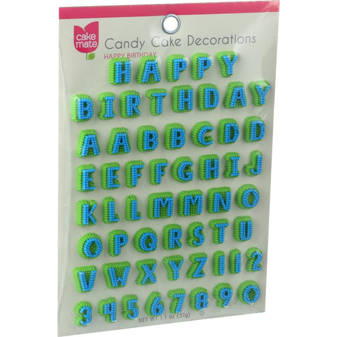 Cake Mate Candy Cake Decorations - Alphabet - 1.4 Oz - Case Of 12