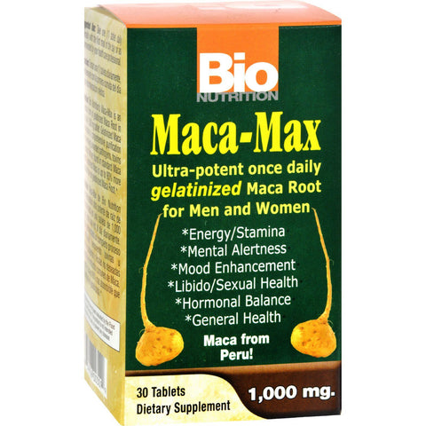 Bio Nutrition Maca-max - 1000 Mg - 30 Tablets
