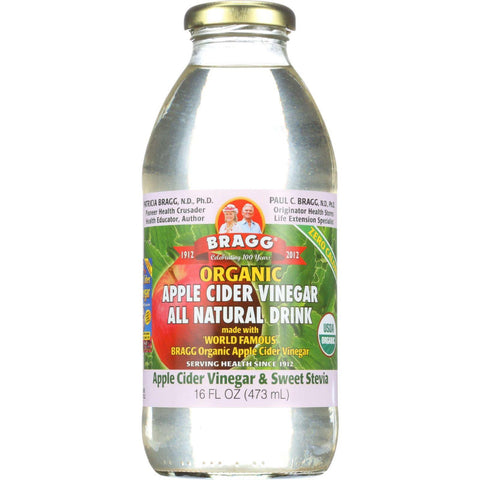 Bragg Apple Cider Vinegar Drink - Organic - Sweet Stevia - 16 Oz - Case Of 12