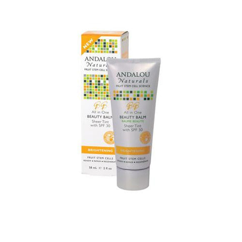 Andalou Naturals Beauty Balm Sheer Tint With Spf 30 Brightening - 2 Oz