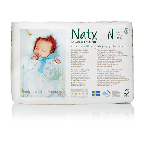 Naty - Baby Diaper Size 0 Newborn - Case Of 4 - 26 Ct