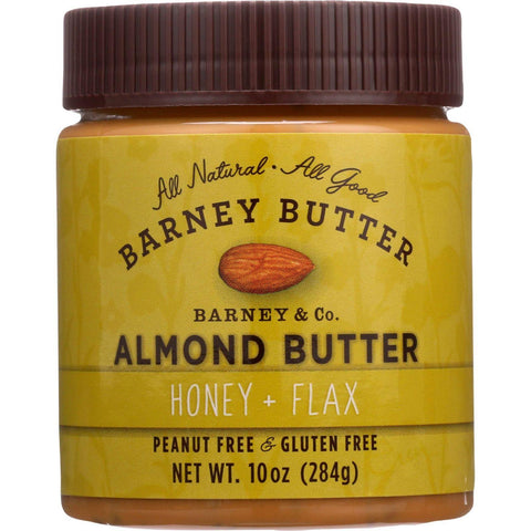 Barney Butter Almond Butter - Honey And Flax - 10 Oz - Case Of 6