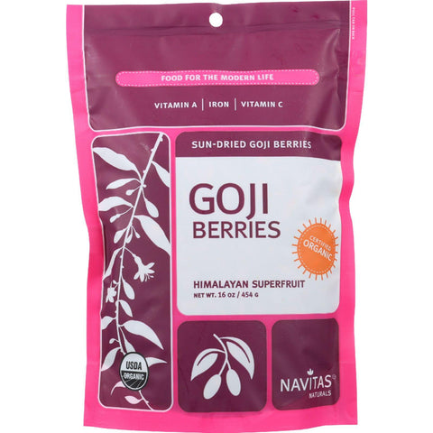 Navitas Naturals Goji Berries - Organic - Sun-dried - 16 Oz - Case Of 6