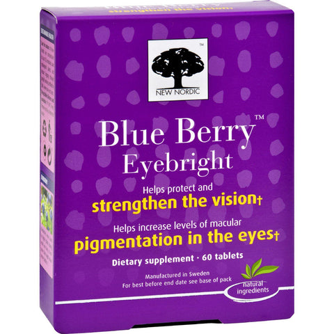 New Nordic Blue Berry Eyebright - 60 Tablets