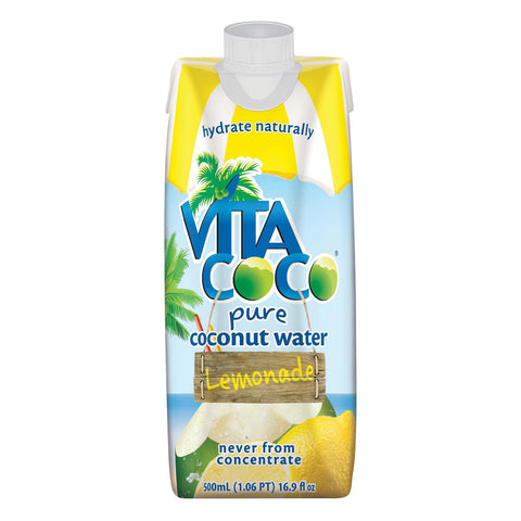 Vita Coco Coconut Water - Lemonade - Case Of 12 - 16.9 Fl Oz.
