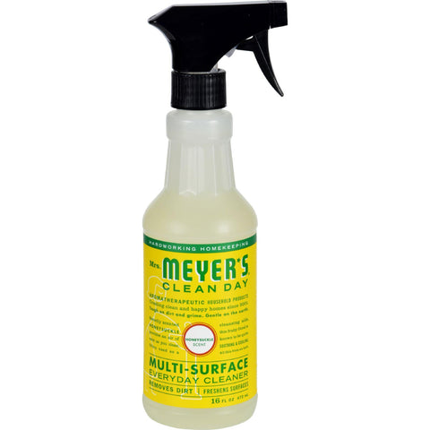 Mrs. Meyer's Multi Surface Spray Cleaner - Honeysuckle - 16 Fl Oz - Case Of 6