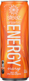 Steaz Energy Drink - Orange - Case Of 12 - 12 Oz.