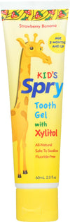 Spry Tooth Gel - Strawberry And Banana - Case Of 1 - 2 Fl Oz.
