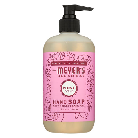 Mrs. Meyers Clean Day - Liquid Hand Soap - Peony - Case Of 6 - 12.5 Fz