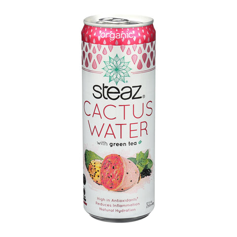 Steaz Cactus Water With Green Tea - Case Of 12 - 12 Oz.