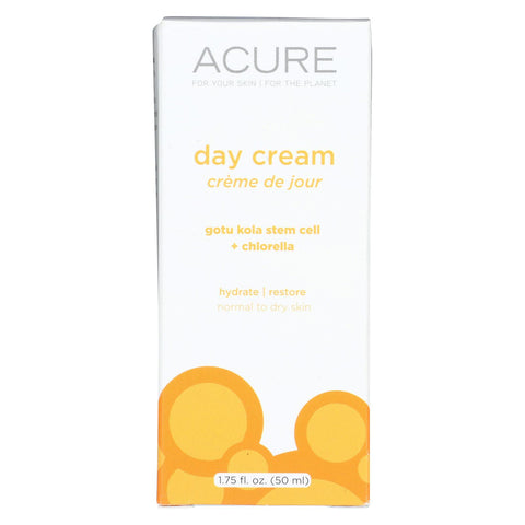 Acure Day Cream - Gotu Kola Extract And Chlorella - 1.75 Fl Oz.