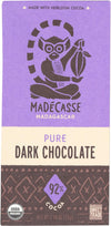 Madecasse 92 Percent Dark Chocolate - Case Of 12 - 2.64 Oz.