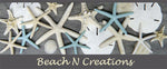 Beach N Creations is a coastal decor and accessory site.  We carry natural shells and sea life, mermaids, seahorses, coral, jewelry, wreaths,  kitchen towels, mermaid measuring spoons and a variety of other items for a coastal feel.