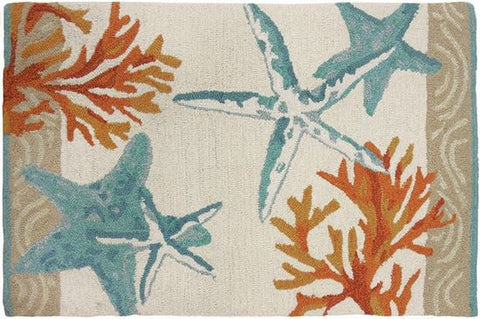Indoor Rug or Floor Mat - Coastal Reef