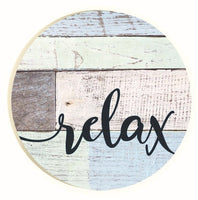 Absorbent Car Coaster - Relax (plank)