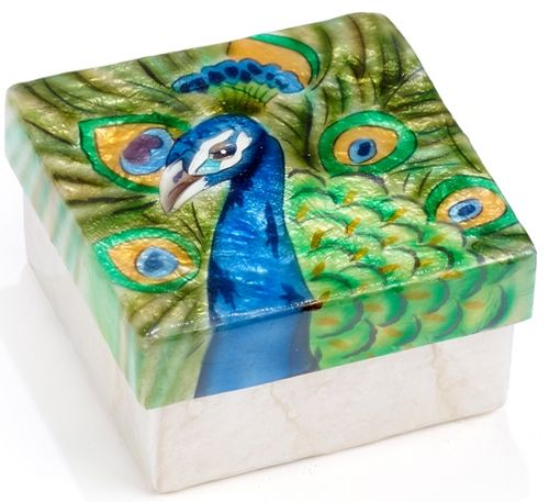 Capiz box - Peacock