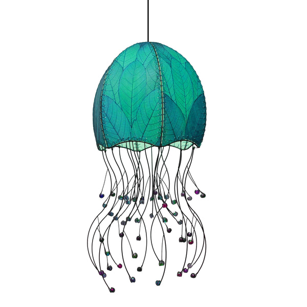 Jellyfish Hanging Lamp Teal