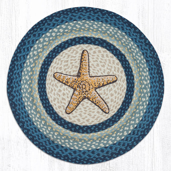 Jute Braided Swatch Starfish 10""