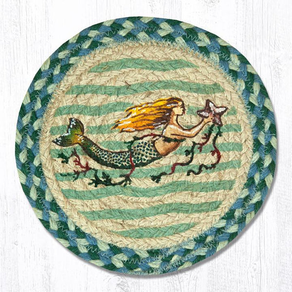 Jute Braided Swatch Mermaid 10""