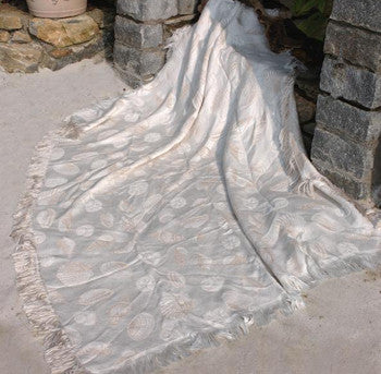 Seashells- Natural and Bisque Throw