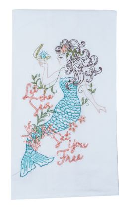 Coastal Flour Sack Towel - Mermaid