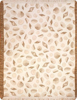 Made in USA - Seashells Throw - Dark Sand
