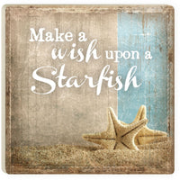Absorbent Coaster - Make a Wish Upon a Starfish